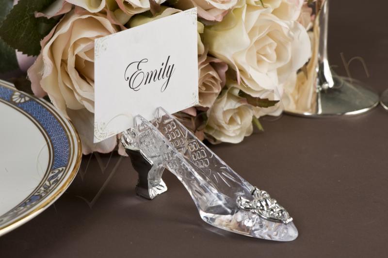 Wedding Cinderella Slipper Place Card Holder Wedding Wish