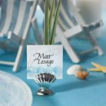Shell Silver Place Card Holders x 8 image