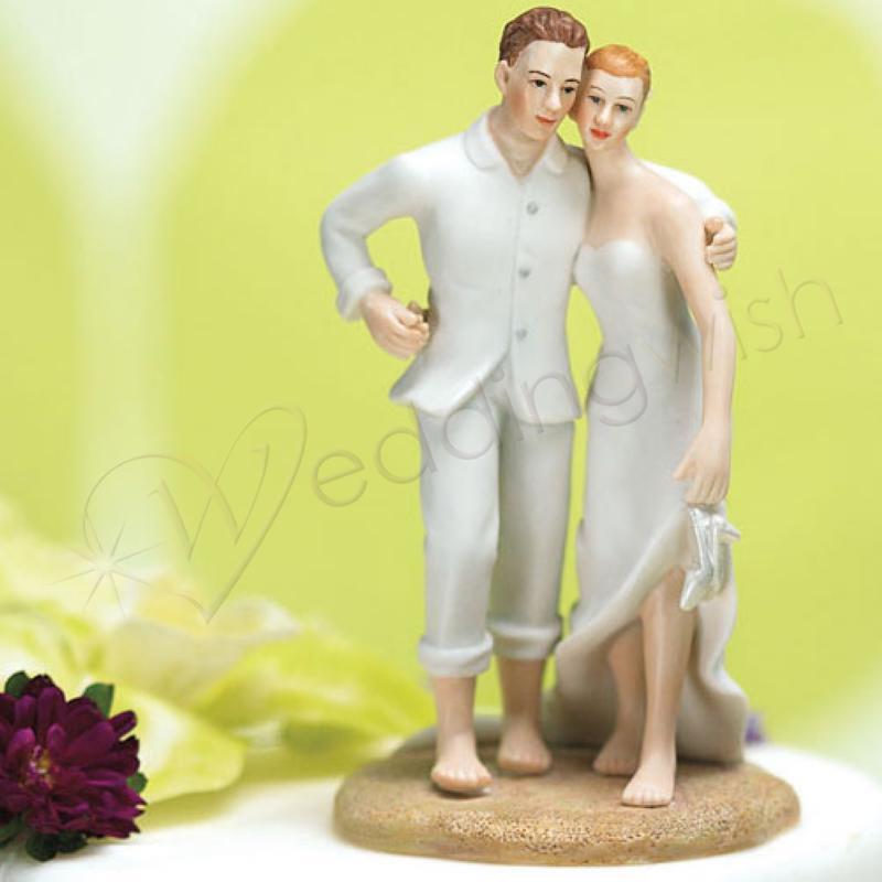 Wedding Beach Bride and Groom Cake Topper - Wedding Wish