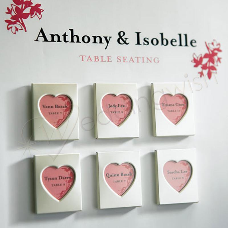 Wedding Mini Magnet Back Aluminum Heart Photo Frames Wedding Wish