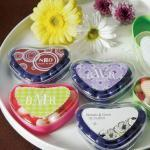 Heart Shaped Candy Containers Crystal & image