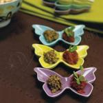 Ceramic Butterfly Dishes / Holders x 6 pieces image