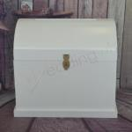 Large White Wooden Treasure Chest image