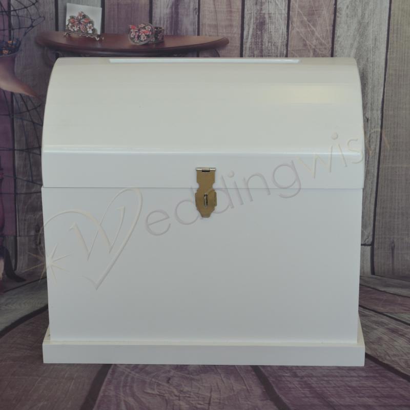wedding large white wooden treasure chest hire wedding wish