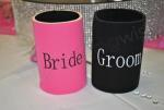 Bride and Groom Stubby Cooler Set image