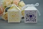 Heart Laser Cut Bomboniere Box - White or Ivory x 20 image