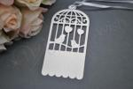 Birdcage Laser Cut Tags with Ribbon x 20 image
