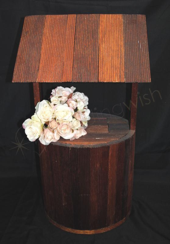 Wedding Carmen Rustic Timber Stained Wedding Wishing Well