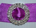 Round Dual Layer Diamante Buckle Large x 10 image