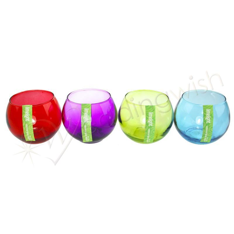 Coloured Glass Tealight Holders