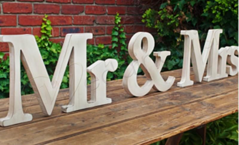Wedding Mr And Mrs Extra Large Natural Timber Sign
