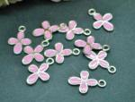 Metal Cross Charms - Blue, Pink or White image
