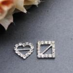 Diamante Buckles Heart or Square x 10 image