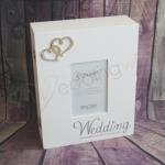 Wedding Keepsake Wooden Box with Hearts image